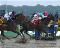 Empire Maker captures the 2003 Belmont Stakes over Ten Most Wanted and Funny Cide
